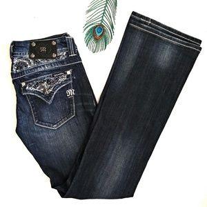 Miss Me Button Flap Pockets Bootcut Jeans Sz 28